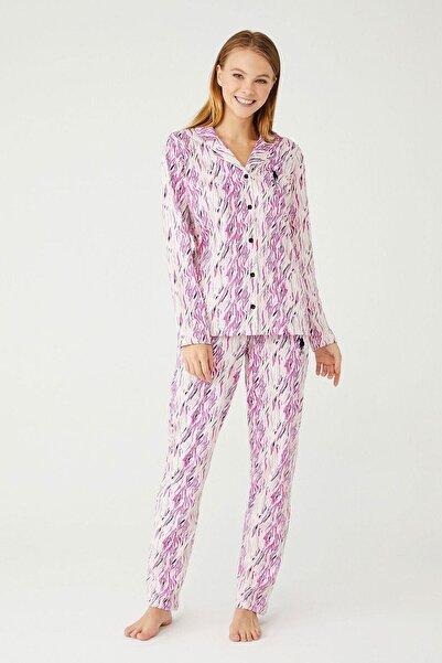 U.S. Polo Assn. U.s. Polo 16405 Bayan Boydan Patlı Pijama Takımı