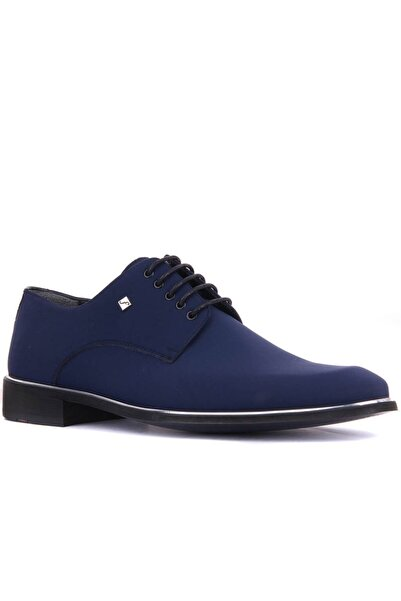 Fosco 8003 Lacivert Hakiki Deri Klasik Ayakkabı