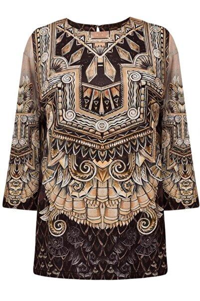 Faberlic Kahverengi Kadınlar Için Bluz 38 Beden