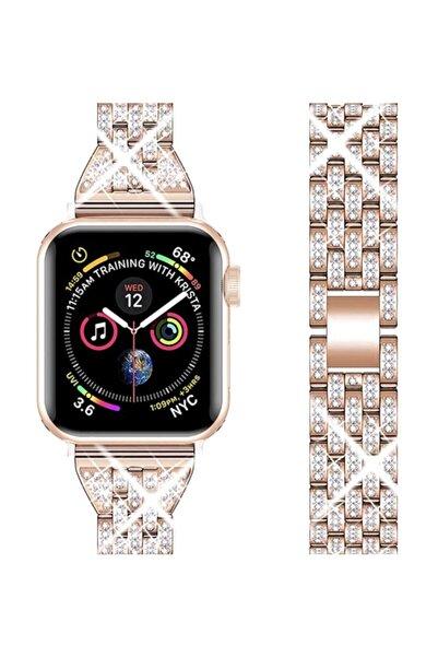 UMD Apple Watch 1 2 3 4 5 6 Ve Se Serisi 42-44 Mm Diamond Metal Kordon