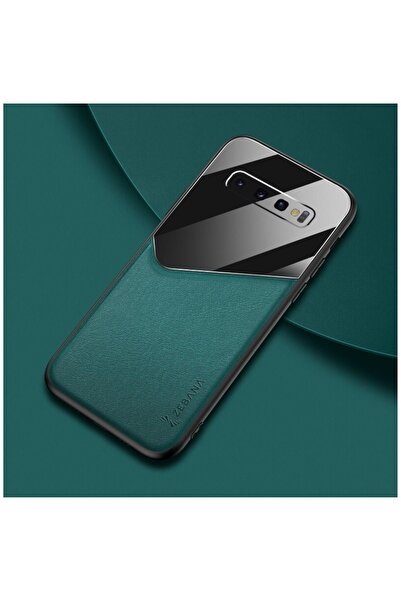 Dara Aksesuar Samsung Galaxy S10 Plus Kılıf Zebana New Fashion Deri Kılıf Yeşil