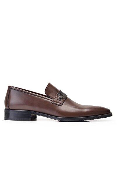 Nevzat Onay Hakiki Deri Kahverengi Klasik Loafer Erkek Ayakkabı -11865-