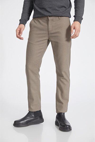 Avva Erkek Bej Yandan Cepli Flanel Slim Fit Pantolon A02y3038