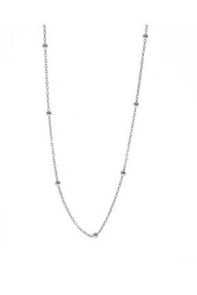 Gümüş 45 Cm Rodyumlu Top Top Zincir