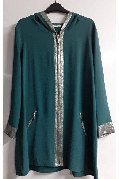 İklim Kadın Yeşil Kapüşonlu Ceket