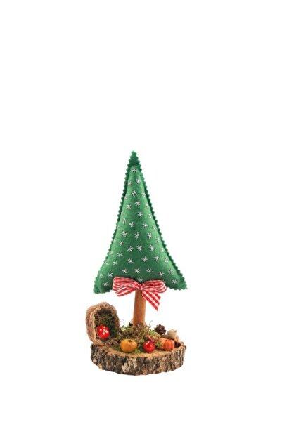 ÇIRPAN EV Yeşil Çam Ağacı Kütük Dekor 25cm
