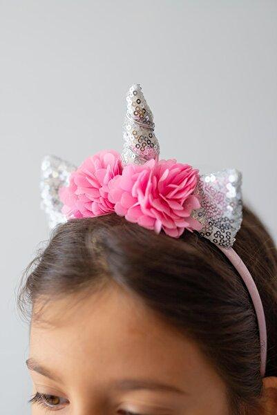 PixyLove Lame Kız Çocuk Taç Unicorn Floral