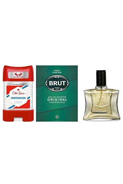 Brut Original Edt 100 ml Erkek Parfümü + Old Spice Clear Jel Koltuk Altı Jel 70 ml
