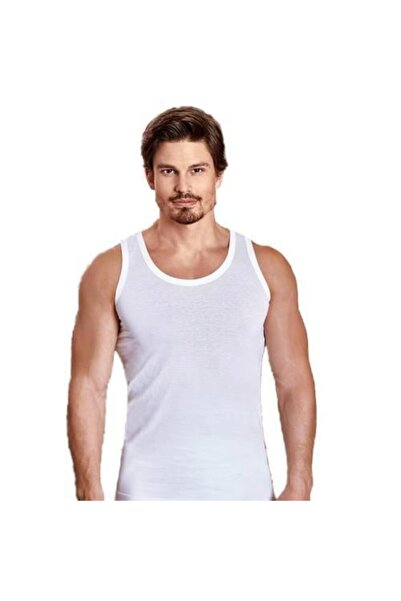 Berrak 6 Lı 1020 Erkek Atlet Beyaz M Beden %100 Pamuklu