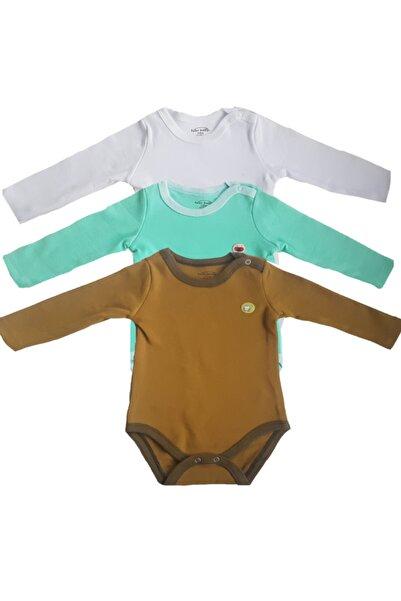 Fuar Baby Neşelibebek Fbbrs1857 Kız 3 Lü Uzun Kollu Pamuk Body Zıbın Set 3-6 Ay