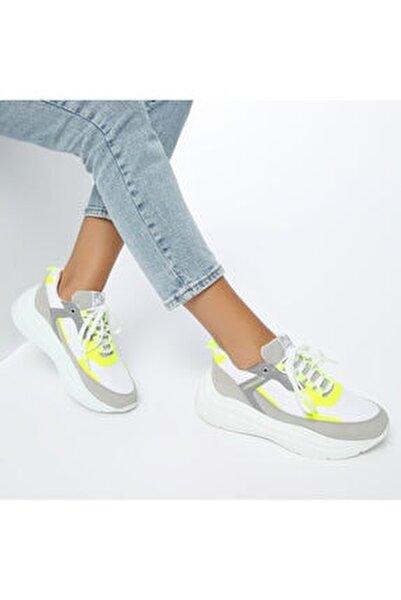 LOVE Beyaz Kadın Kalın Taban Sneaker Spor Ayakkabı 100486545