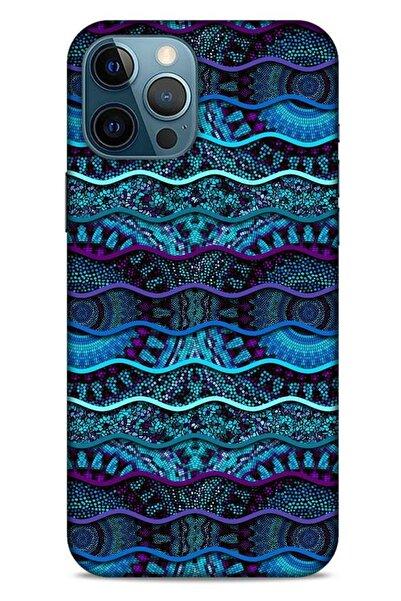 Lopard Apple Iphone 12 Pro Max Kılıf Baskılı Özel Seri Taşlı (37) Silicone Cover