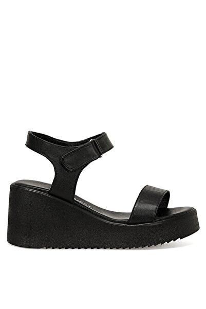 Nine West Kalan Siyah Kadın Dolgu Topuklu Sandalet