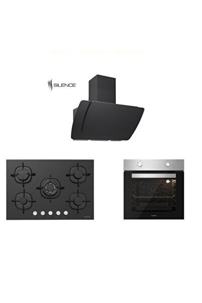 Silverline Inox Siyah Ankastre Set 5 Yıl Garanti (3373 Mısto 60+cs5365b01+bo6501x01)