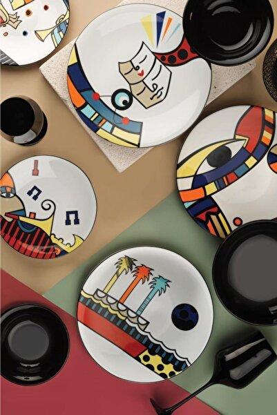 Kütahya Porselen Free Time 6'lı Servis Tabağı 27 Cm
