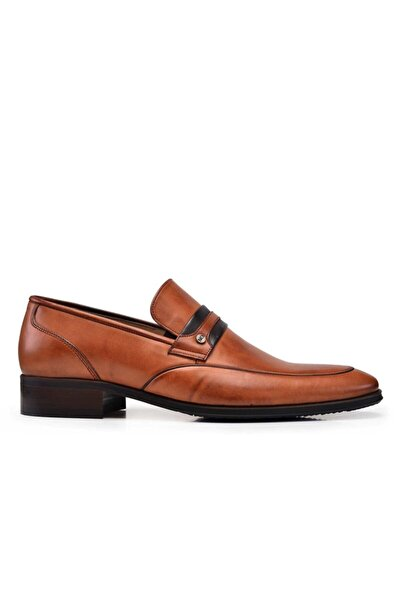 Nevzat Onay Hakiki Deri Taba Klasik Loafer Erkek Ayakkabı -10626-