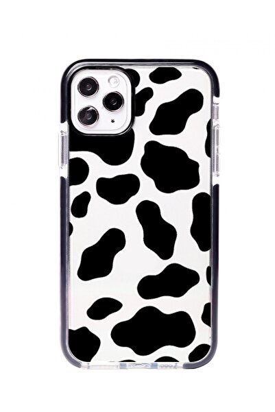 POFHİ Iphone 8 Plus Inek Desenli Impact Telefon Kılıfı