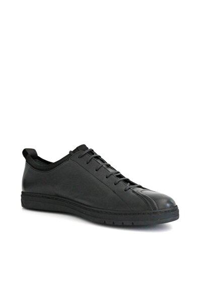 Beta Shoes Hakiki Deri Erkek Günlük Ayakkabı Siyah