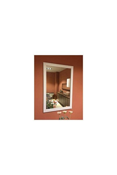 Vivense Mone Ayna 50x75 Beyaz Çerçeveli Dekoratif Duvar Salon Ofis Boy Aynası