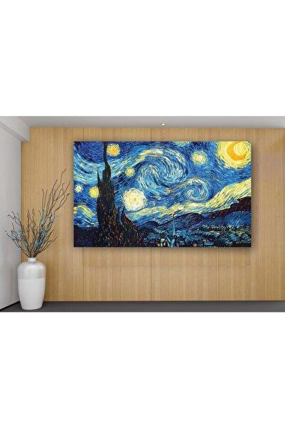 kanvasnes Van Gogh Yıldızlı Gece - Her Mekana Uygun Dekoratif Kanvas Tablo