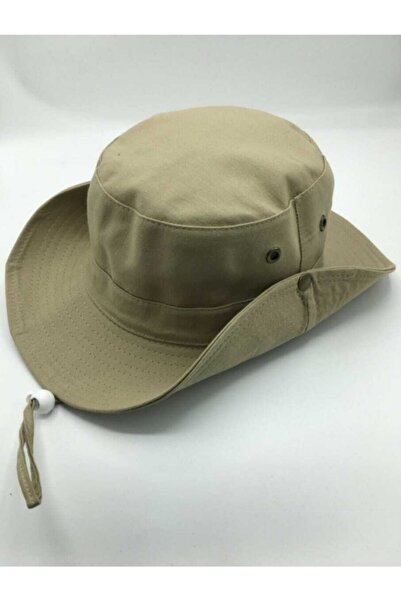 Accessory City Safari Model Ayarlamalı Keten Şapka