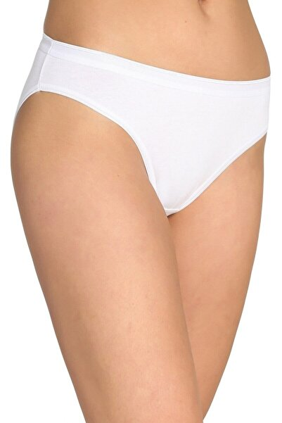 Tutku Kadın 12'li Paket Bikini Slip Külot (Beyaz)