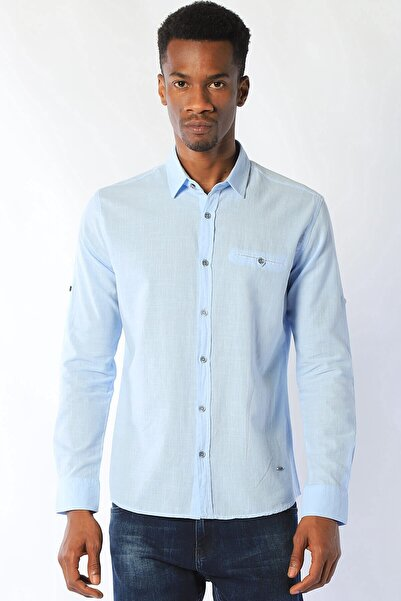 Twister Jeans Erkek Gömlek Eg 2051 Basıc (T) A.mavı