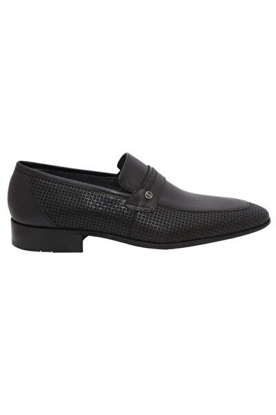 Fosco 9030 Siyah Lazerli Deri Erkek Günlük Ayakkabı