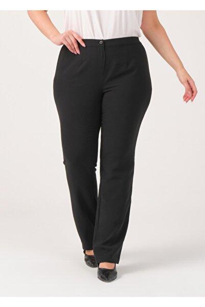Adze Kadın Siyah Boru Paça Pantolon Siyah 48