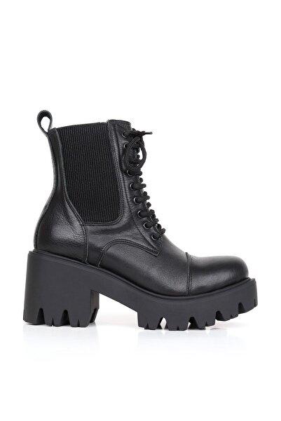 BUENO Shoes Hakiki Deri Kadın Topuklu Bot 01wr3900