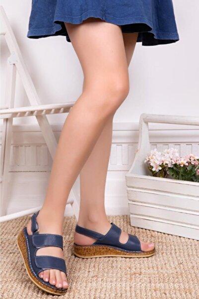 Deripabuc Hakiki Deri Kadın Deri Sandalet Dp16-0303