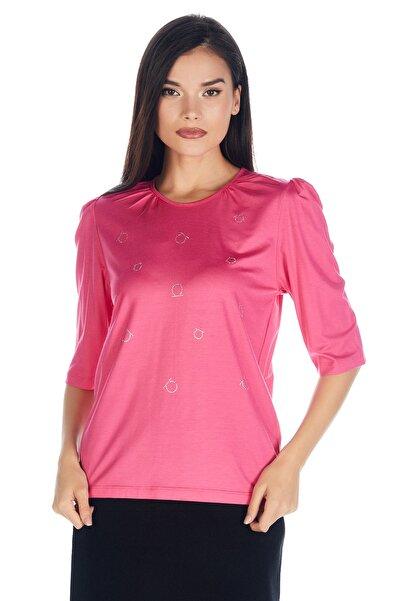 Solo Kadın Hotfix Viskoz-lycra T-shirt-bluz