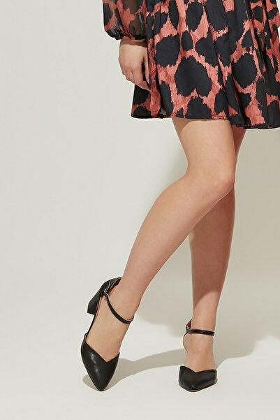 ZİNDİ Kadın Deri Topuklu Ayakkabı Siyah