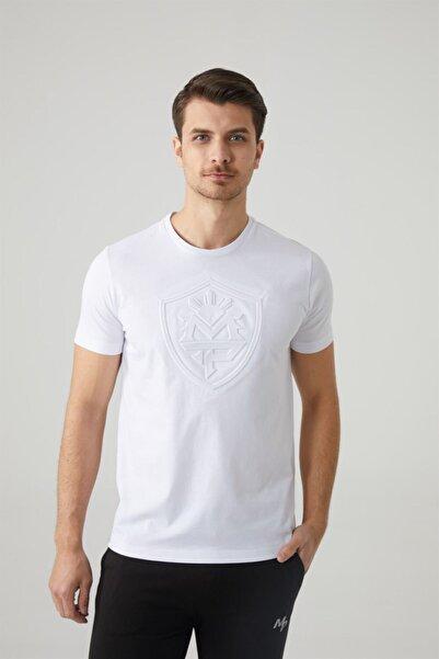 MP Erkek Bisiklet Yaka Beyaz T-shirt Tekstil 201-5010mr 650
