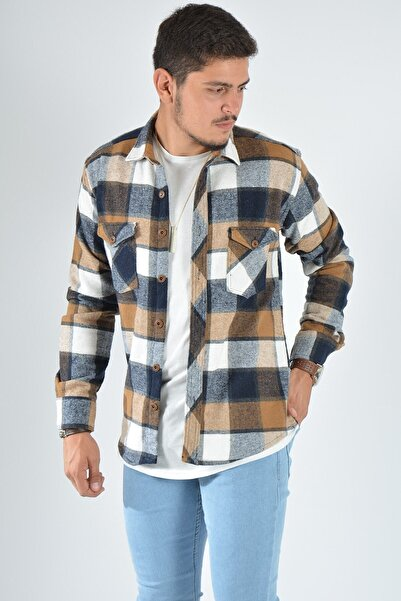Terapi Men Erkek Kareli Oduncu Gömleği 20k-4300552 Kahverengi