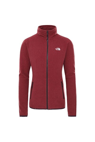 THE NORTH FACE Kadın Bordo 100 Glacıer Full Z Ceket Nf0a2uauus21