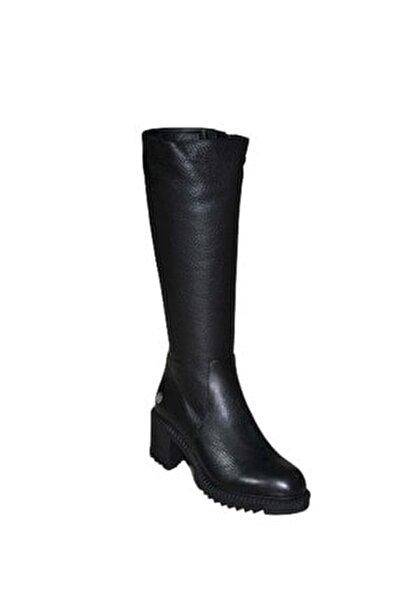 D19kc-2065 Hakiki Deri Kadın Çizme - - Siyah - 39