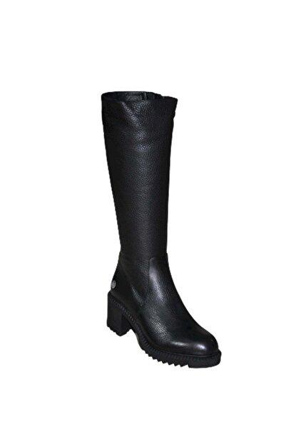 Mammamia D19kc-2065 Hakiki Deri Kadın Çizme - - Siyah - 39