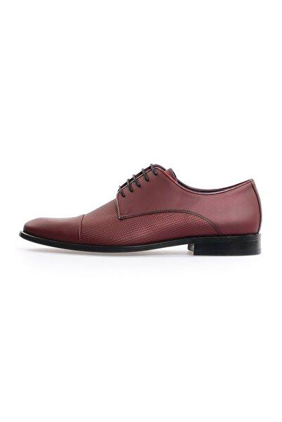 Flower Bordo Bağcıklı Klasik Ayakkabı