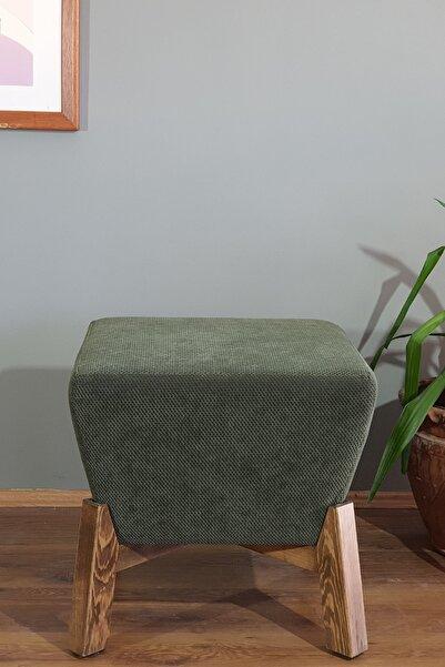 KURGU Piramit Puf 46 X 46 - Haki Yeşil