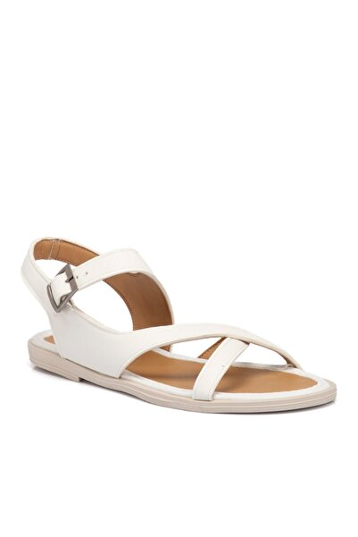 Tergan Beyaz Vegan Kadın Sandalet 210141q0y