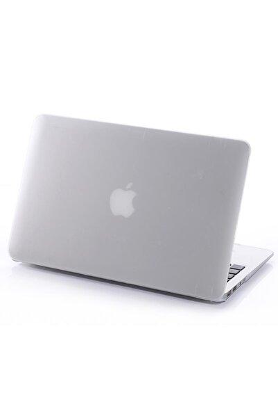 Techmaster Macbook Air 13 A1932 2018 A2179 2020 Kılıf Rubber Tam Koruma Kapak Beyaz