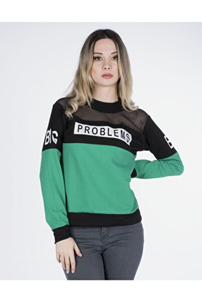 Vision Kadın Yeşil Sweatshirt