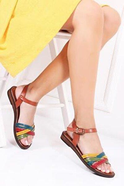 Hakiki Deri Multi-1 Kadın Deri Sandalet Dp-0013