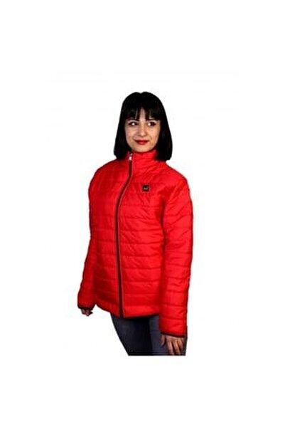 Jibau Kışlık Kadın Şişme Mont Kırmızı Renk