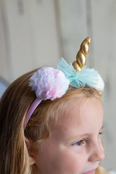 PixyLove Renkli Kız Çocuk Taç Unicorn Pommy