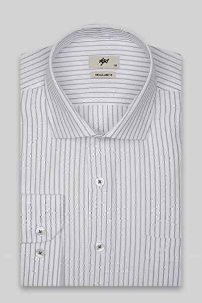 İgs Erkek Lacivert Regularfıt / Rahat Kalıp 7 Cm Klasik Gömlek