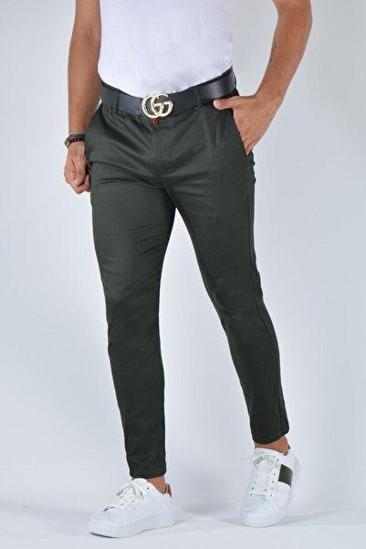 Terapi Men Erkek Slim Fit Keten Pantolon 20k-2200348 Koyu Yeşil