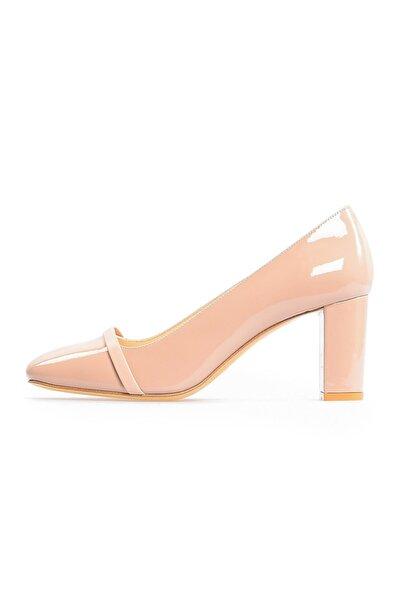 Flower Vizon Bant Detaylı Topuklu Ayakkabı