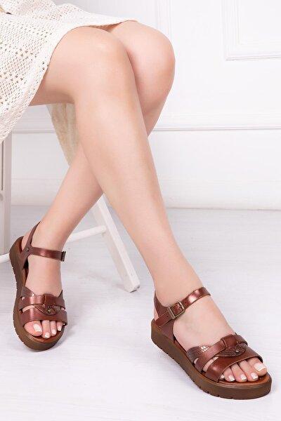 Deripabuc Hakiki Deri Twinkle-3 Kadın Deri Sandalet Dp-1014